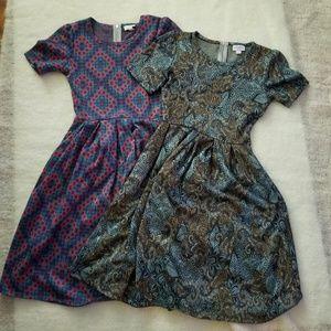 2 lularoe Amelia dresses xs